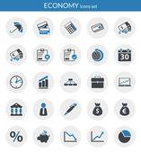 Icônes sur l'économie — Vecteur