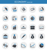 Icons about economy — Vettoriale Stock