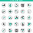 Icons about medicine — Stockvektor