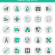 Icons about medicine — Stock vektor