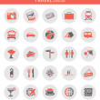 Icons about travel — Stock Vector