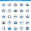 Icons about transport — Imagen vectorial