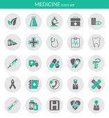 Icônes sur la médecine — Vecteur