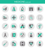 Icons about medicine — Vettoriale Stock