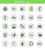 Icons about ecology — Stock Vector