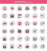 Ikony o nakupování — Stock vektor