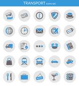 ícones sobre transporte — Vetorial Stock