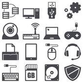 компьютер иконки — Cтоковый вектор