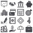 Finance icons — Stock Vector