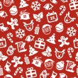 Christmas seamless background — Image vectorielle