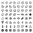 The Weather flat icons. Black — Stockvectorbeeld