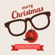 Christmas hipster — Stock Vector