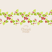 Seamless garland of mistletoe — Stock Vector