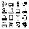 Computer icons with reflection — Stock Vector