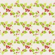 Stock Vector: Garland of mistletoe. Seamless background
