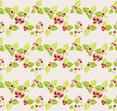Garland of mistletoe. Seamless background — Stock Vector