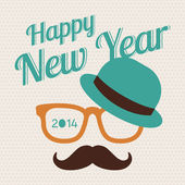 New Year hipster — Stock Vector