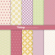 Seamless patterns Vintage style — Stock Vector #33296891