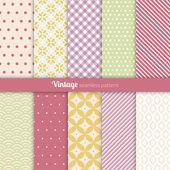 Bezešvé vzory vintage styl — Stock vektor