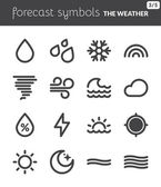 Forecast symbols 1 — Stock Vector
