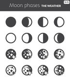 Moon phases — Stock Vector