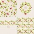Christmas mistletoe backgrounds — Stock Vector