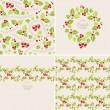 Christmas mistletoe backgrounds — Stock Vector