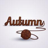 Autumn concept Knit — Stock Vector