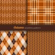 Autumn patterns — Image vectorielle