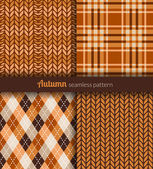Autumn patterns — Stock Vector