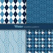 Winter patterns — Imagen vectorial
