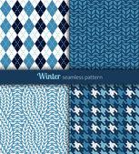 Winter patterns — Stock Vector