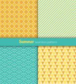Summer patterns — Stock Vector