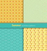 Summer patterns — Stock Vector