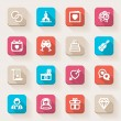 Wedding flat icons. Colorful — Stock Vector
