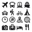 Travel flat icons. Black — Vecteur #36722987