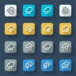 Bad weather icons — Stock Vector