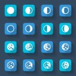 Moon phases icons — Vector de stock