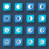 Moon phases icons — Stock Vector