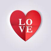 Origami heart. Love — Stok Vektör