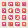 Vector de stock : Valentines Day flat icons. Colorful