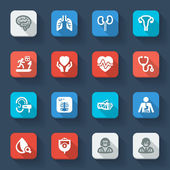 Medical specialties. Healthcare flat icons — Vector de stock