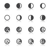 Moon phases symbols — Stock Vector