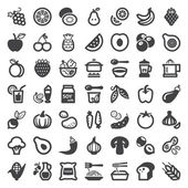 Vegan food flat icons — Stockvektor
