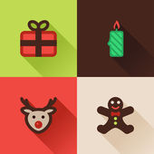 Christmas flat icons Set IV — Stock Vector