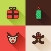 Christmas flat icons Set IV — Stock Vector