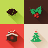 Christmas flat icons Set II — Stock Vector