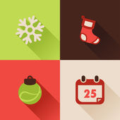 Christmas flat icons Set III — Stock Vector