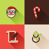 Christmas flat icons Set I — Stock Vector