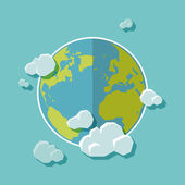 Earth flat design — Stock Vector